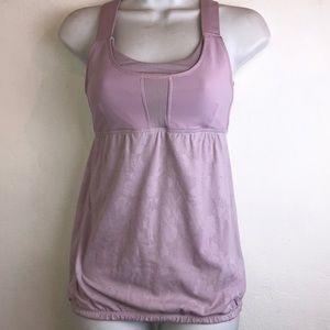 lululemon purple yoga tank top size 4